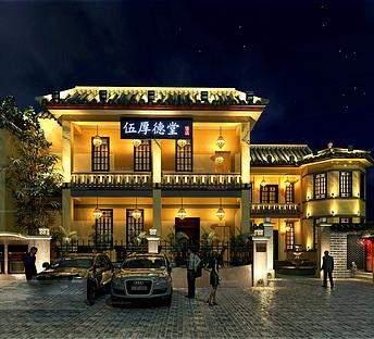 中式古典风门头