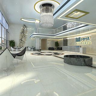 办公大堂3d模型