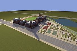 欧式学校整体模型