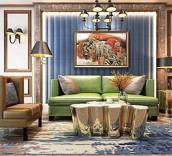 现代简欧客厅