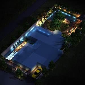 別墅景觀3d模型