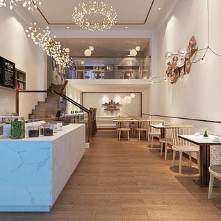 咖啡厅整体模型