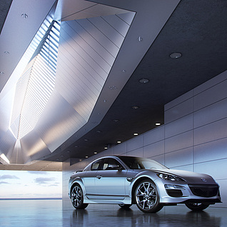 汽车表现展示场景整体模型