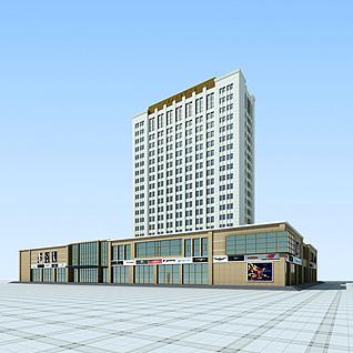 盛泉酒店整体模型