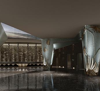 现代豪华餐厅大堂