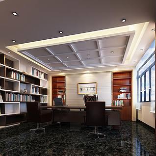 阅览室整体模型