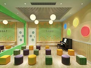 幼儿园培训机构(口才,演艺)3d模型