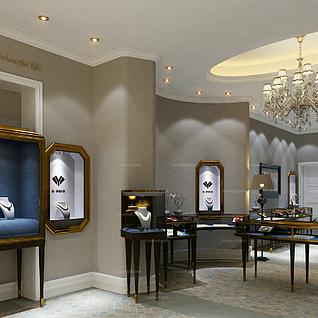 珠宝专卖店整体模型