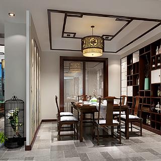 <font class='myIsRed'>新中式</font>餐厅整体模型