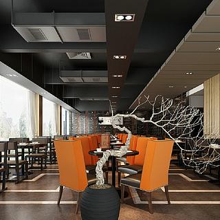 <font class='myIsRed'>现代</font>餐厅整体模型