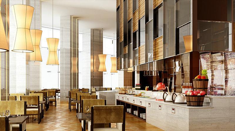 现代风格餐厅模型