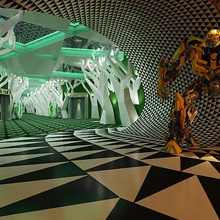 电影院走廊整体模型
