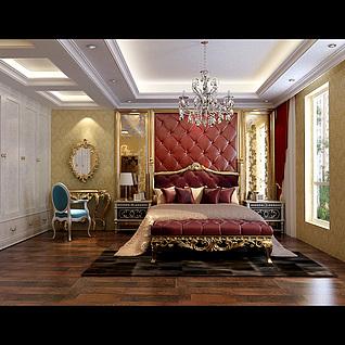 欧式卧室3d模型