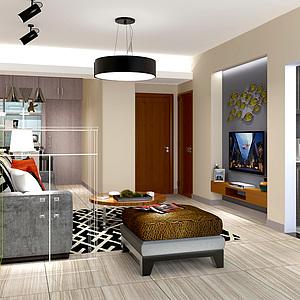 室內客廳<font class='myIsRed'>家居</font>整體模型