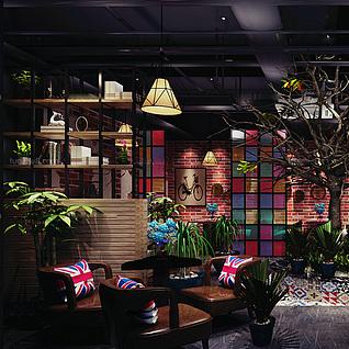 特色主题餐厅整体模型