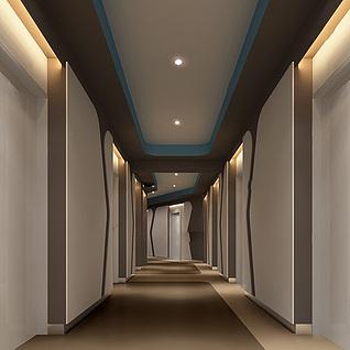 电梯间过道整体模型