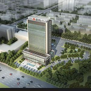 中国银行办公楼整体模型