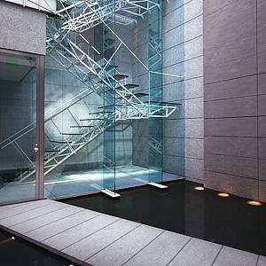 工业风格楼梯整体模型