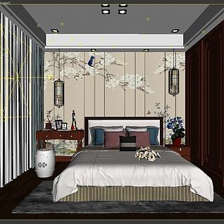 新中式女儿房3d模型