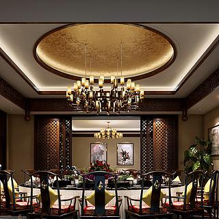 新<font class='myIsRed'>中式餐厅</font>整体模型