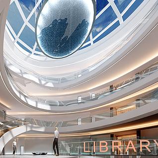 图书馆中庭整体模型