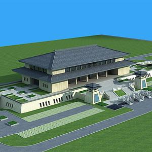 中式建筑模型3d模型
