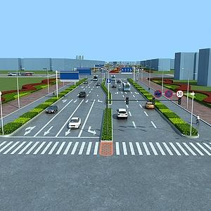 道路公路<font class='myIsRed'>景观</font>规划整体模型