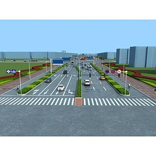 道路公路景观规划工装模型