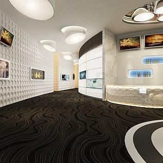 电影院大厅模型整体模型