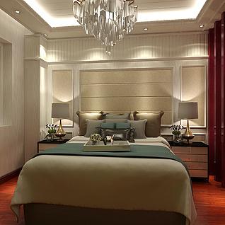 中式家装3d模型