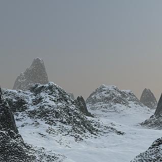 雪山场景3d模型