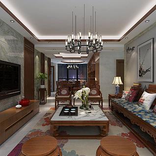 客餐厅3d模型