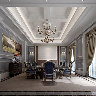 欧式风格会议室整体模型