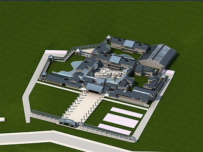建筑整體模型