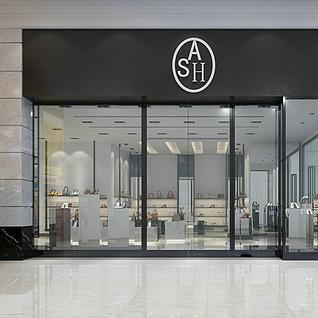 鞋包专卖店整体模型