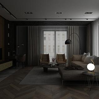 现代家装3d模型