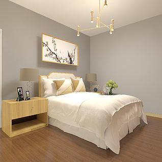 中式床13d模型