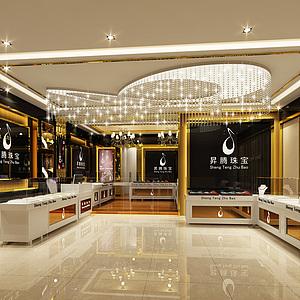 珠寶店整體模型