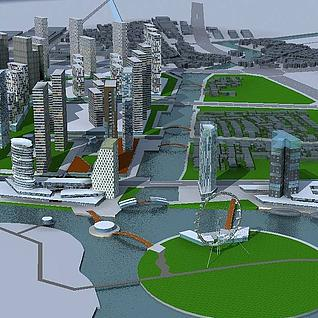 城市规划整体模型