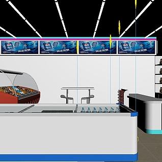 工装,室内,场景,商场超市整体模型