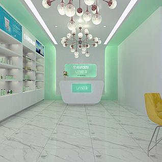 化妆品店3d模型