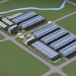 工业厂房整体模型
