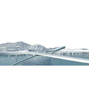 滨湖步道3d模型
