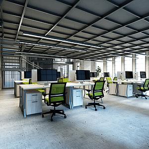 loft办公室3d模型
