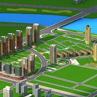 城市规划设计整体模型