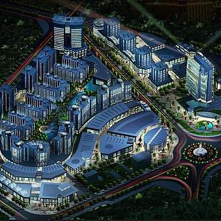 城市规划设计3d模型