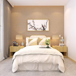 新中式别墅客厅卧室3d模型