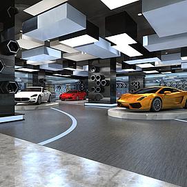 <font class='myIsRed'>汽车展厅</font>整体模型