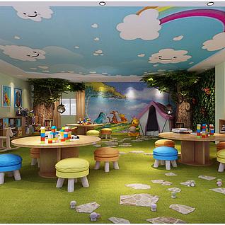 儿童教室整体模型