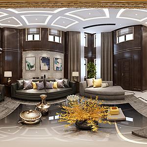 現代別墅全景整體模型